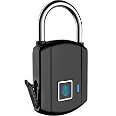 [What's the Fingerprint lock?]-- NO Key, NO APP, NO Bluetooth, Friendly to kids and elder. With it, don't worry about forgetting your key and can't remember password. A smart padlock with intelligent fingerprint sensor technology and auto-recognition...