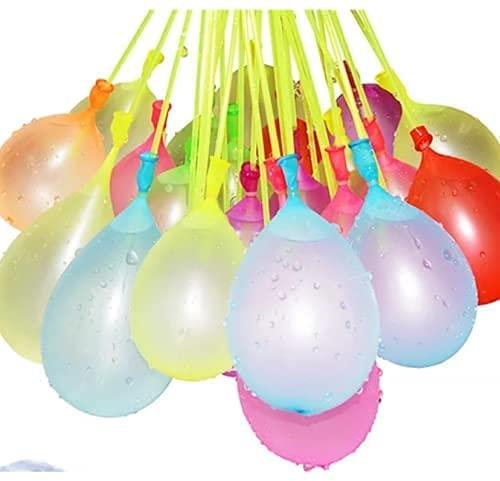 Wasserballons Water Balloons 222PCS Wasserbomben in 60 Sekunden selbstschließend ohne Knoten Wasserballons Kurzzeitig Füllen Kit