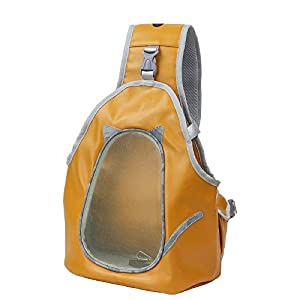 PremiPet Pet Front Backpack Carrier for Puppy Small Dogs Cats, Hands-Free Travel Bag Breathable Sling with Adjustable Strap, Comfy Removable Base
