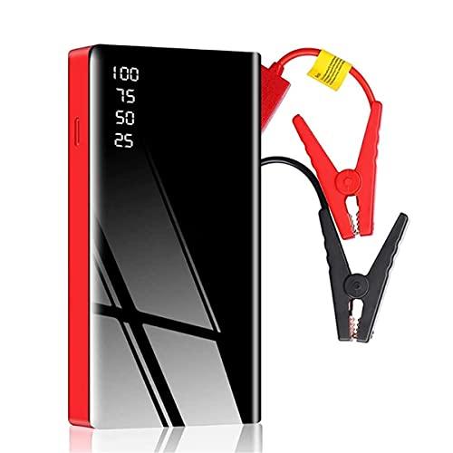 HARTI Puente de arranque portátil de 12 V, cargador de coche multifunción de emergencia para coche 20000 mAh, dispositivo de arranque automático con clip de seguridad, luz LED para automóviles