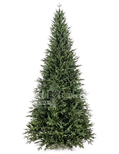 Original Hallerts® Spritzguss Weihnachtsbaum Bellister 210 cm als Nobilis Edeltanne - Christbaum zu 100% in Spritzguss PlasTip® Qualität - schwer entflammbar nach B1 Norm, Material TÜV und SGS geprüft - Premium Spritzgusstanne