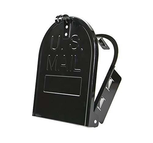 """8 Inch (Width) by 10 Inch (Height) RetroFit """"Snap-In"""" Mailbox Door Replacement - Black"""