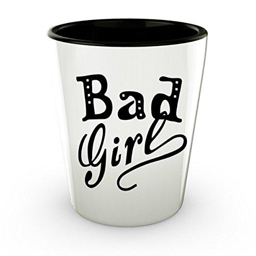Shot Glasses Funny Bad Girl Shot Glass 21st Birthday Gifts for Her (1)