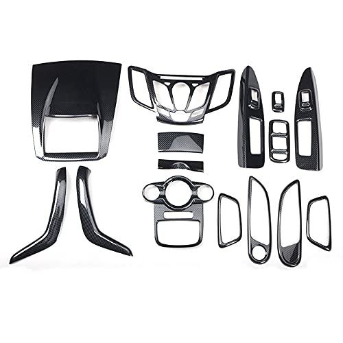 Kit di Rivestimento del Bracciolo della Maniglia della Copertura della Console del Centro di Navigazione per Auto per Ford Fiesta 2009 2010 2011 LHD