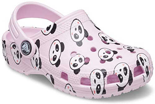 Crocs Classic Panda Print Clog, Ballerina Pink, 13 UK Child