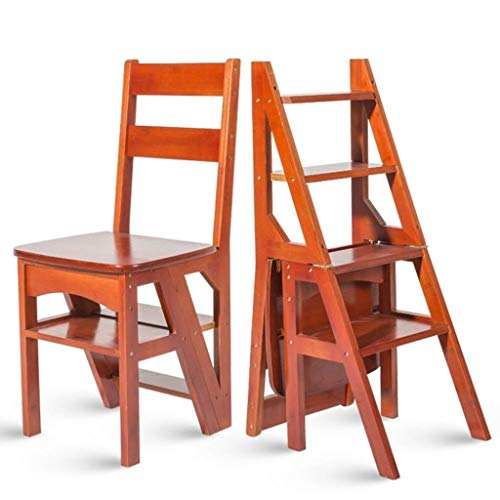 DY Huishoudelijke multifunctionele ladder kruk massief hout IKEA kinderen opvouwbare stoel dual-gebruik viervoudige ladder oplopende ladder 38×39×60cm