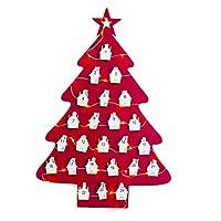Realizzato in feltro durevole, adatto alluso ripetuto ea lungo termine. Progettato in tema natalizio, di bellaspetto e attraente. Aggiungi più divertimento al conto alla rovescia per Natale, sposta il bastoncino di zucchero in diverse tasche giorno p...