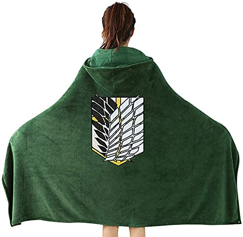 Blacwhyt Attack on Titan - Capa con capucha para hombre, diseo de anime, cosplay, talla M, color verde