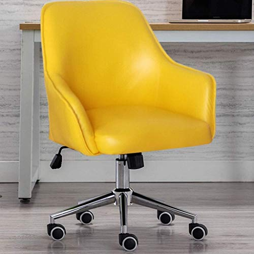 N/Z Daily Equipment Chaise Retro Swivel Chair Leather Recliner Chair Height Adjustable with Metal Base Upholstered Leisure Chair on Rolling Wheels for Home Office Cafe Hotel Green D