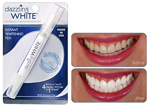 Dazzling White Instant Teeth Whitening Pen, 4 Shades Whiter in a Week, 0.07 Oz (2 Packs)