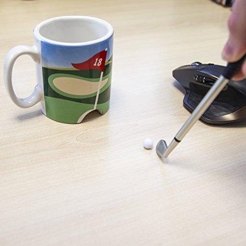 LONGRIDGE Golftasse und Mini-Putter, Weiß - 2