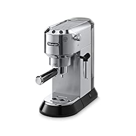 De'Longhi EC680M Espresso, Stainless Steel, Metallic 1 EVERY CUP TO YOUR LIKING: 15-bar professional pressure assures quality results every time, and adjustable controls allow you to make modifications for your personal taste preferences. EASY TO CLEAN: Removable water tank and drip tray make for easy cleanup, and the parts are dishwasher safe. BREW LIKE A PRO: Whatever your preference – single or double espresso, cappuccino or latte – the machine brews authentic barista-quality beverages just like you enjoy at your favorite coffeehouse.