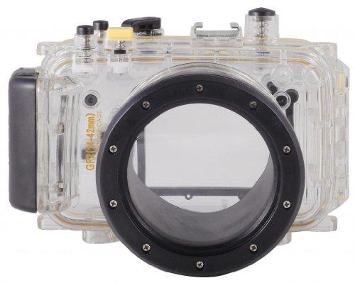 Polaroid wasserdichtes Unterwassergehäuse für Panasonic Lumix GF2 mit 14-42 mm Objektiv
