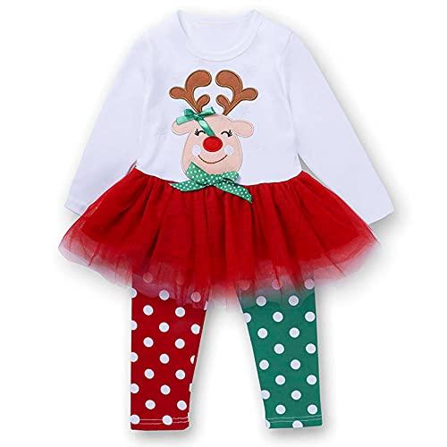 YQSR Vestido de fiesta de Navidad para beb, de manga larga y pantaln de pi, para bautizo, ceremonia, cumpleaos
