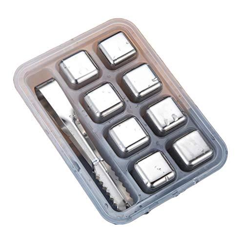 Lvguang Gekühlte Edelstahl Metallwürfel Permanente Eiswürfel für Kaffee, Bier und Whisky (Style#4, 2.6 * 2.6 * 2.6cm)