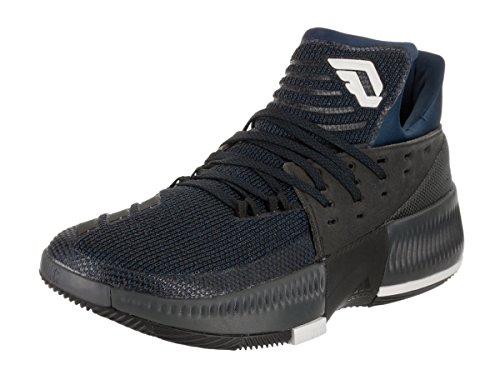 adidas Men's D Lillard 3 Mystic Blue/Black/White Basketball Shoe 9 Men US