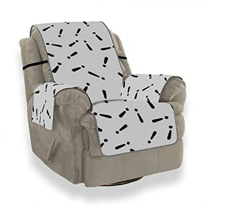 Rtosd Signo de exclamación Decoración Simple Sofá Fundas Protectoras para sofá para Funda de sofá Funda Universal para sofá Protector de Muebles para Mascotas Niños Gatos Sofá