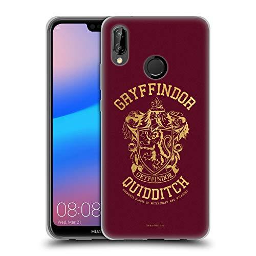 Head Case Designs Officiel Harry Potter Gryffindor Quidditch Deathly Hallows X Coque en Gel Doux Compatible avec Huawei P20 Lite