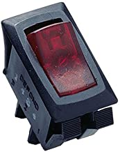 Gardner Bender GSW-42  Electrical Appliance Rocker Switch, SPST, ON-OFF, 16 A/125V AC, Spade Terminal,  Red Illuminated