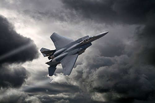F15 Eagle Tactical Fighter Aircraft Flying Through Storm Photo Photograph Cool Wall Decor Art Print Poster 18x12