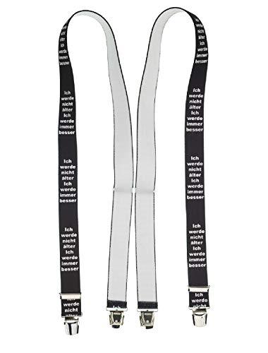 shenky extra starke 4 Klips Sprüche Hosenträger X Clips Suspenders (Nicht Älter aber Besser)