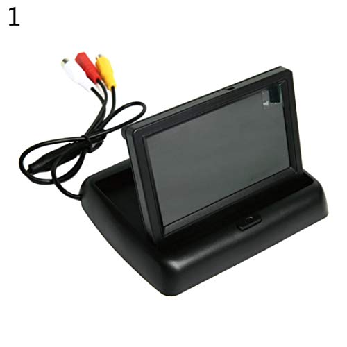 YSHtanj Auto Monitor Auto Video Player & Zubehör Auto Display 4,3 Zoll LCD 12 V Falt-Display Auto Rückfahrkamera Monitor – 1 1