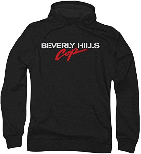 Beverly Hills Cop - - Logo Hommes Hoodie, Large, Black
