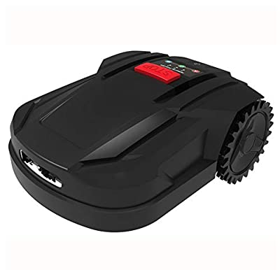 HEN'GMF Robotic Lawn Mower, Battery Powered Mower-7.1-inch Mowing Smart Robot Lawn Mower, Slopes Up to 20 Degrees and Grass Up to 2.2 Inches Tall, Suitable for Yards Up to 800m²,B