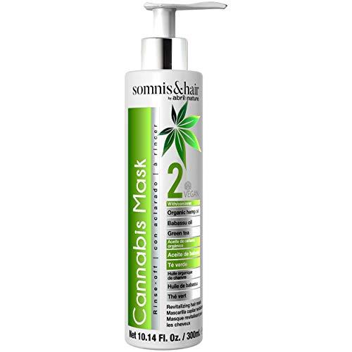 Somnis&Hair by abril et nature | CANNABIS MASK 300ml. | Mascarilla Acondicionadora Detox, relajante y antiestrés | Hidratación, nutrición y brillo para el pelo | Vegana