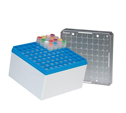 NeoLab 7-8020 Kryo opbergbox PC, 9 x 9 plaatsen, 96 mm hoog, blauw (5-pack)