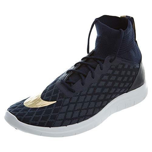 Nike Free Hyper Venom 3F.C. Flyknit Sneaker Uomo, dunkelblau / gold