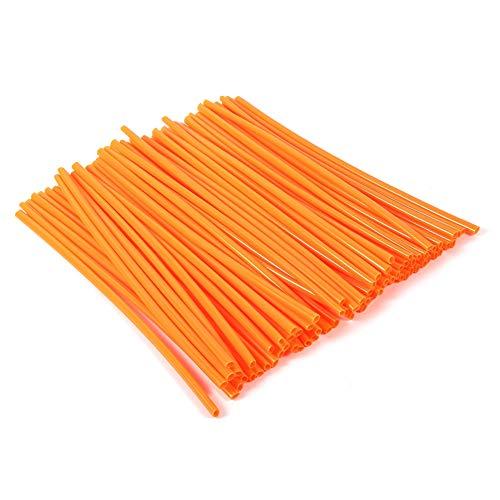 Ginyia Speichenabdeckung, Radfelgen-Speichenabdeckung, Schmutz-Fahrrad-Speichenabdeckungen, Fahrrad-Speichen-Skins für Motorrad für Fahrrad(Orange)
