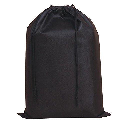 Cuitan Non Tessuto Scarpe Conservazione Borsa, 30 x 40cm con Cordoncino Traspirante Viaggio Scarpe Bagagli Borsa Antipolvere Organizer per Scarpe Borse Shoe Storage Bag per Viaggi e Casa - Nero(ispessito)