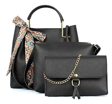 Mammon Women's PU Leather Handbag Combo (Set of 3)
