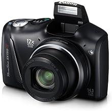 Canon PowerShot SX150 IS 14,1 MP Cámara digital con zoom óptico de imagen estabilizado de gran angular de 12 aumentos con LCD de 3.0 pulgadas (negro (modelo antiguo)