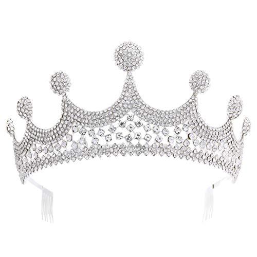 Lurrose Corona de Diamantes de Imitación Vintage Tocado Barroco Clásico Tocado de...