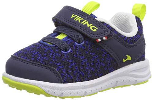 viking Unisex-Kinder Veil Cross-Trainer, Blau (Navy/Lime 588), 34 EU