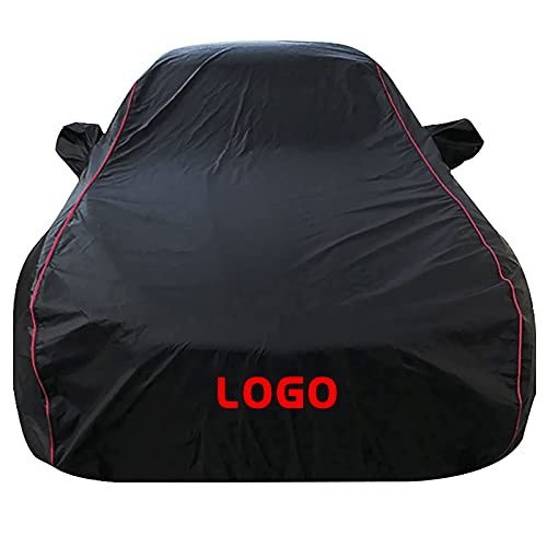 JJILY Car Cover Compatible with Honda Civic 4-Door Wagon 1976-1991, All Weather Full Automobiles Covers Waterproof Windproof Dustproof Exterior Car Covers with Storage Bag