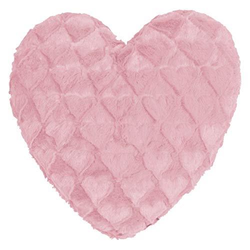 MAGMA Dekokissen Fluffy Hearts Rose, Dekokissen gefüllt 40x35 cm