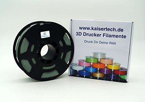Kaisertech, filamento per stampanti 3D, 1 kg, PLA/ABS, 1,75 mm/3 mm, qualità premium, colori assortiti, per Makerbot, Reprap, Makergear, Ultimaker e molto altro ancora ( PLA 1.75mm, Kiwi )