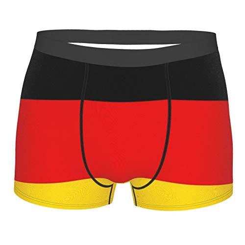 XISDHG Herren Boxershorts Komfort Neuheit Design Eastic Bund Trunks Unterwäsche für Männer Deutschland Flagge Gr. XL, Schwarz