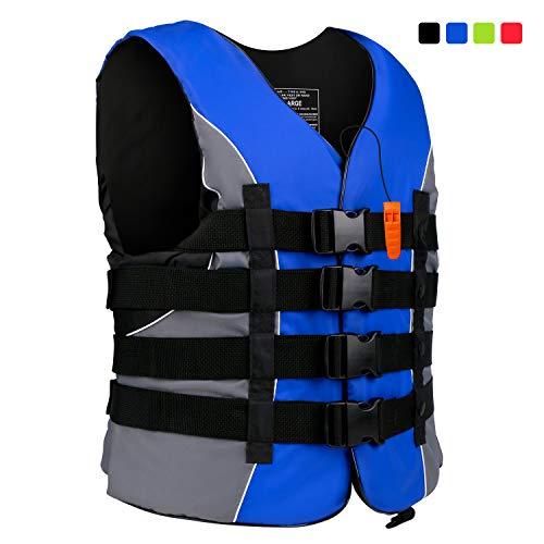 XGEAR Adult USCG Life Jacket Vest Water Sports (Blue, 3XL)