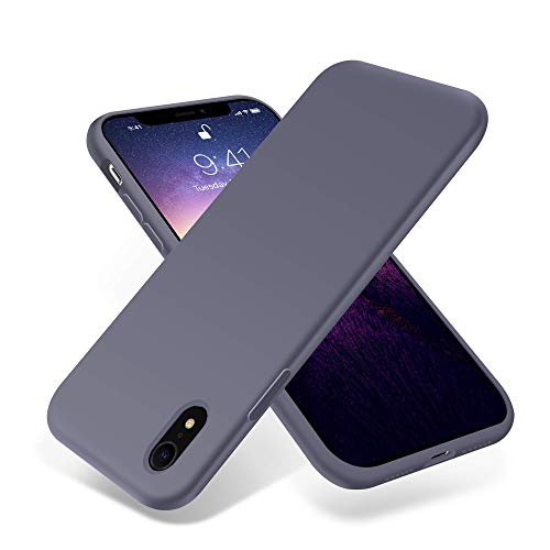 for iPhone XR Case,OTOFLY[Silky and Soft Touch Series] Premium Soft Silicone Rubber Full-Body Protective Bumper Case Compatible with Apple iPhone XR 6.1 inch - (Lavender)