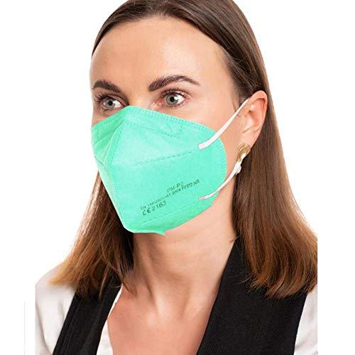 ProMedicalCare. Mundschutz FFP2 Maske türkis, Mundschutz Maske FFP2 grün, Masken Mundschutz FFP2, 5er Pack