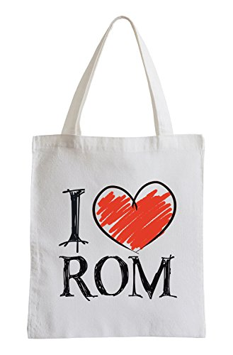 I Love Rom Fun Jutebeutel