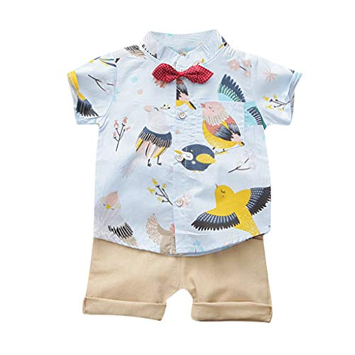 cover Baby Jungen Kleidung Set Kurzarm T-Shirt + Shorts + Krawatte Cartoon Tier Oberteile Bluse Bekleidungsset Sommer