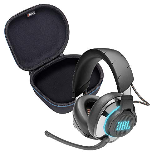 JBL Quantum 800 Wireless Over-Ear Performance Gaming Headphone Bundle with gSport Deluxe Travel Case (Black)