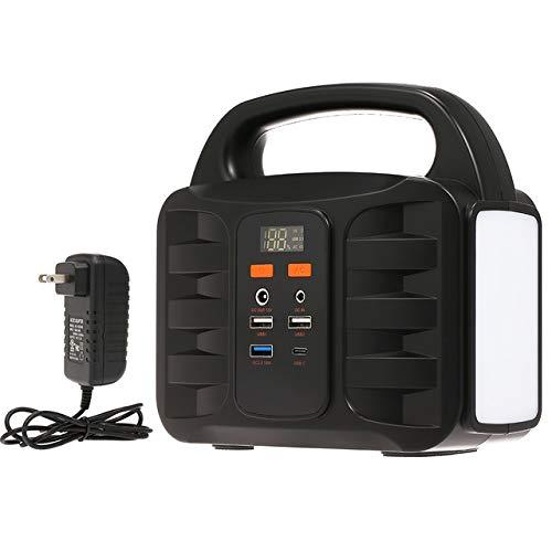 USB 充電/太陽光発電ポータブル発電機発電所AC±10% 155Wh 緊急バックアップリチウム電池 110V 緊急時 災害時