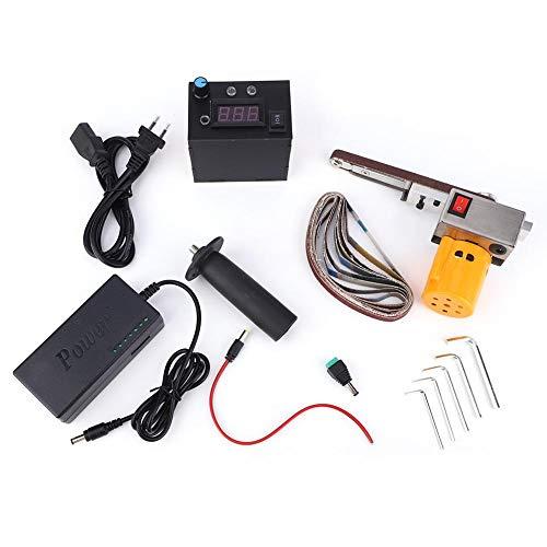 Hand Schleifpoliermaschine, 110 V ~ 220 V DIY Mini Elektrische Bandschleifer Winkelschleifer für Kleine, Komplexe, Kleine Winkel, Dead Corners(EU Plug 110V~220V)