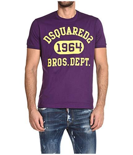 DSQUARED2 Super Negative Dyed Slouch Fit T-Shirt Purple XL